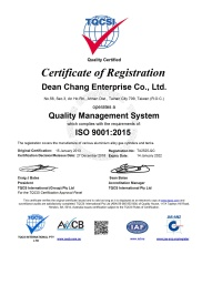 ISO 9001 英文證書